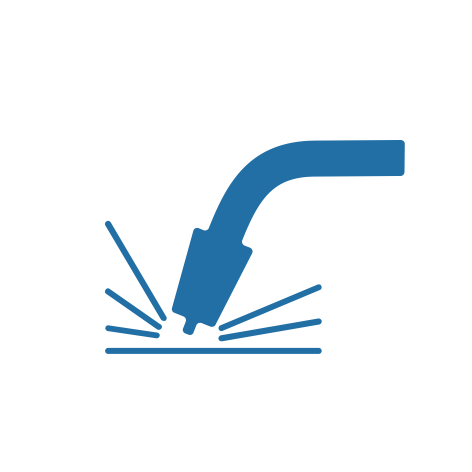 icona saldatura lamiera blu